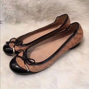 Stuart weitzman cork ballerina patent leather 6.5